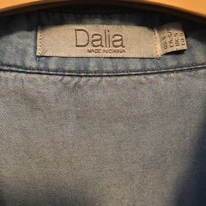 Dalia Dresses - Jean dress. Tie waist. Hits above knee.